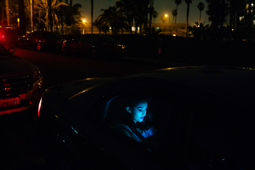 Images from a series of Angeleno women at night.  Photo by Kendrick Brinson